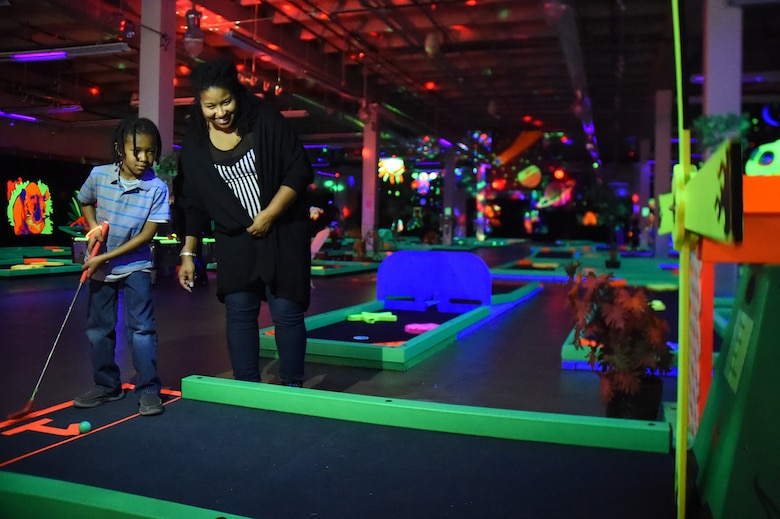 Glow golf unites families of deployed service members