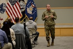 Army Brig. Gen. Mark Simerly, DLA Troop Support commander, meets with employees in the Pathways to Career Excellence program Feb. 13. The PaCE program is a two-year training program designed for entry-level personnel in professional, administrative and technological career fields.