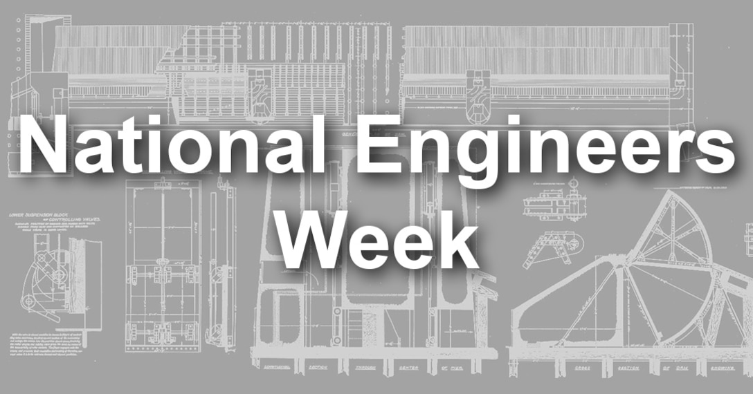 National Engineers Week, founded in 1951, coincides with the birthday of President George Washington — America's first engineer. National Engineers Week provides an opportunity to the nation to:  Recognize achievements in the engineering profession. Improve external understanding of USACE contributions to the Nation through engineering. Promote professional development of engineers. Encourage more children and young adults to pursue engineering.