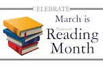 March is National Reading Month.