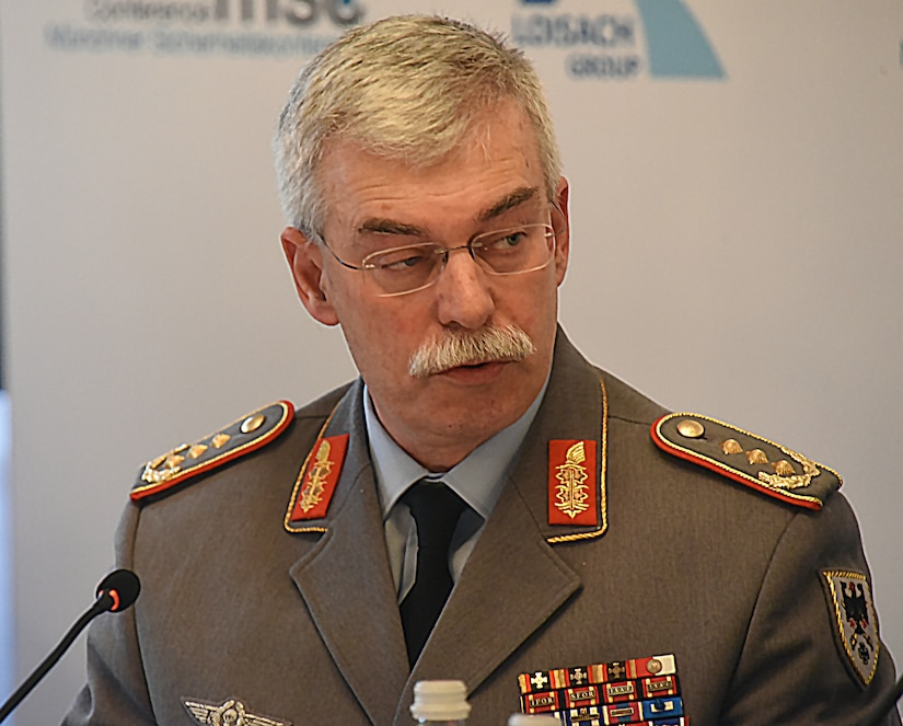 German Army Chief of Staff speaks at a panel discussion.