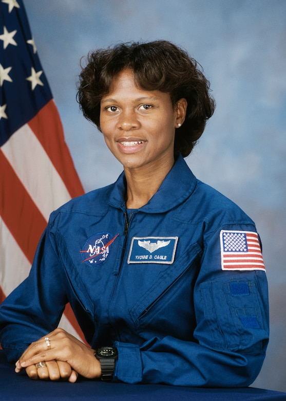 Astronaut Yvonne D. Cagle, a retired U.S. Air Force flight surgeon. (Photo courtesy of U.S. National Aeronautics and Space Administration)