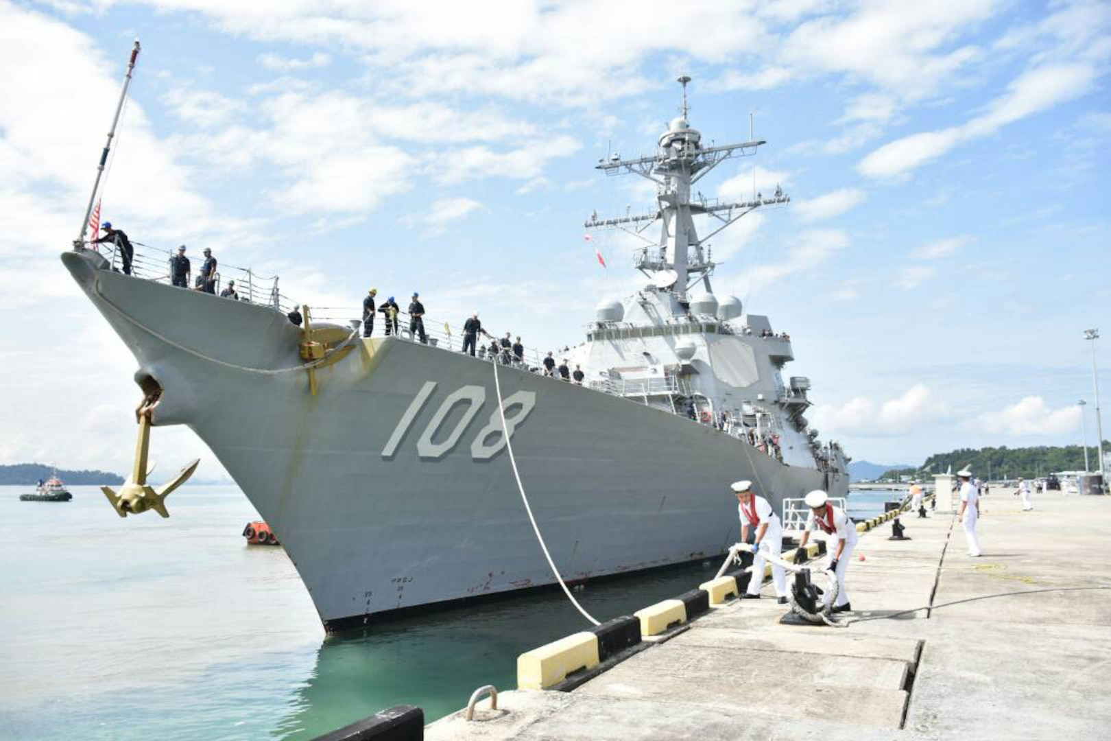 USS Wayne E. Meyer arrives in Malaysia for port visit