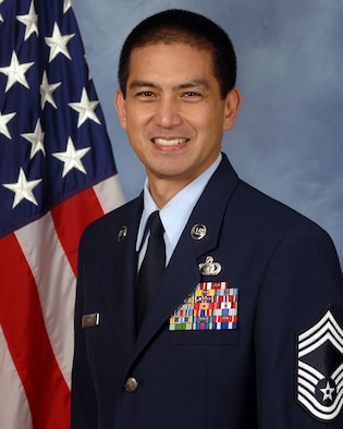 Official photo of Chief Master Sgt. James B. Ting (U.S. Air Force photo)