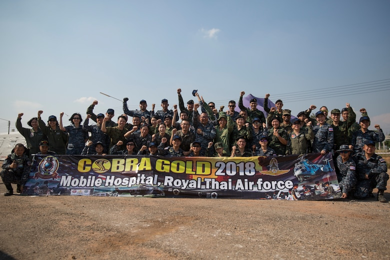 Cobra Gold 18 is an annual exercise conducted in the Kingdom of Thailand held from Feb. 13-23 with seven full participating nations.