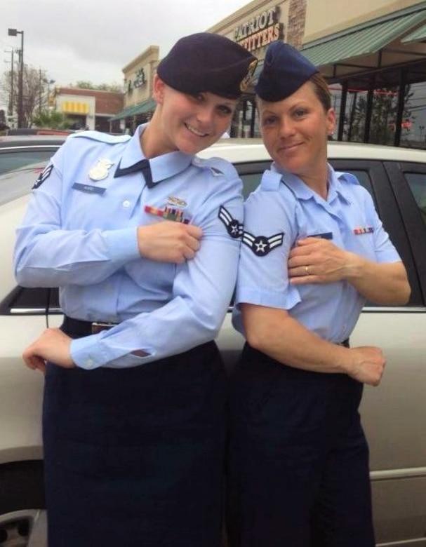 Courtesy photo Left, Staff Sgt. Amanda Robbins, right, Staff Sgt. Rebecca Ward