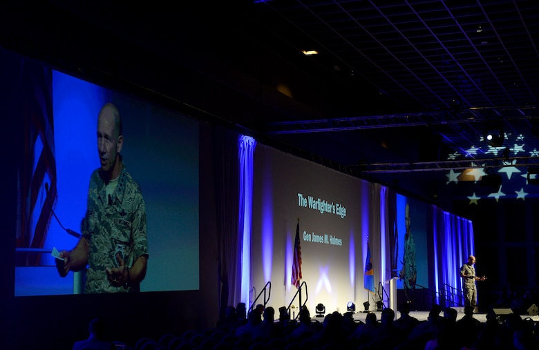 The commander of Air Combat Command, Gen. Mike Holmes discussed the importance of taking the lead in warfighting through innovation at the 2018 Air Warfare Symposium in Orlando, Florida, Feb. 23, 2018.