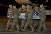 Dignified transfer for Army Sgt. Christina M. Schoenecker