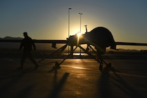 The MQ-1 was active for more than 20 years and evolved from a pure intelligence, surveillance and reconnaissance platform to later include persistent attack capabilities during that time. (U.S. Air Force photo by Senior Airman James Thompson)