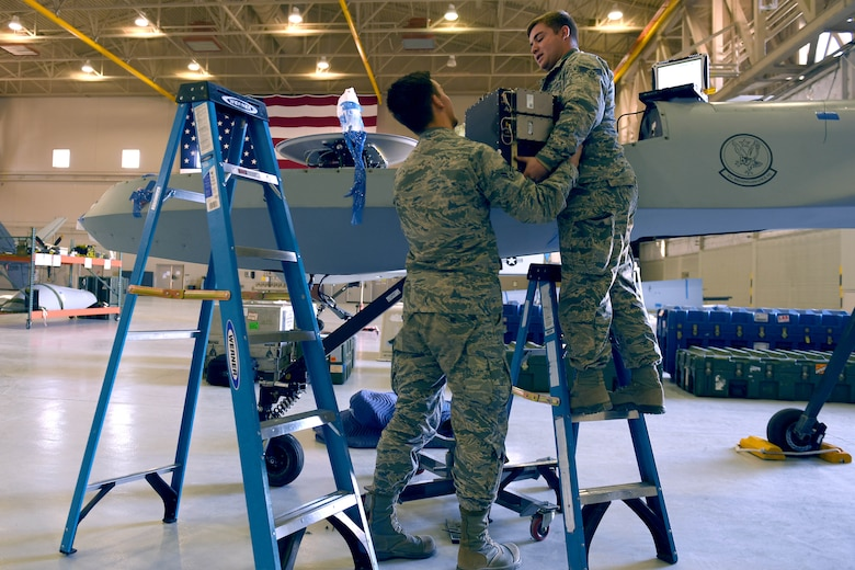 Airmen with the 432nd Maintenance Group demilitarized a few MQ-1s in their inventory before they were dispersed to England where they'll be displayed in museums.