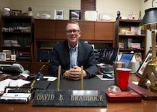 David Braddock, Military Affairs Committee vice chairman, works as an insurance salesman in the community, Jan. 31, 2018, Altus, Okla.