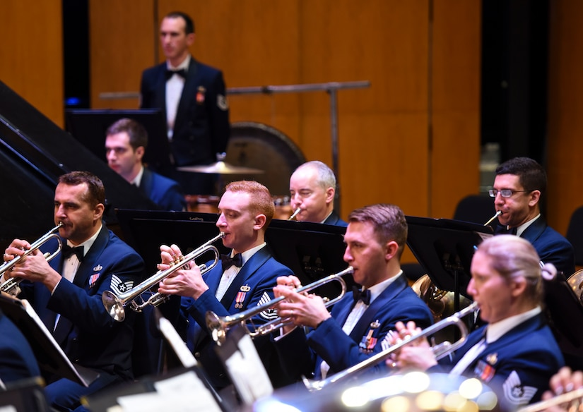 USAF Concert Band members perform in Guest Artist Series