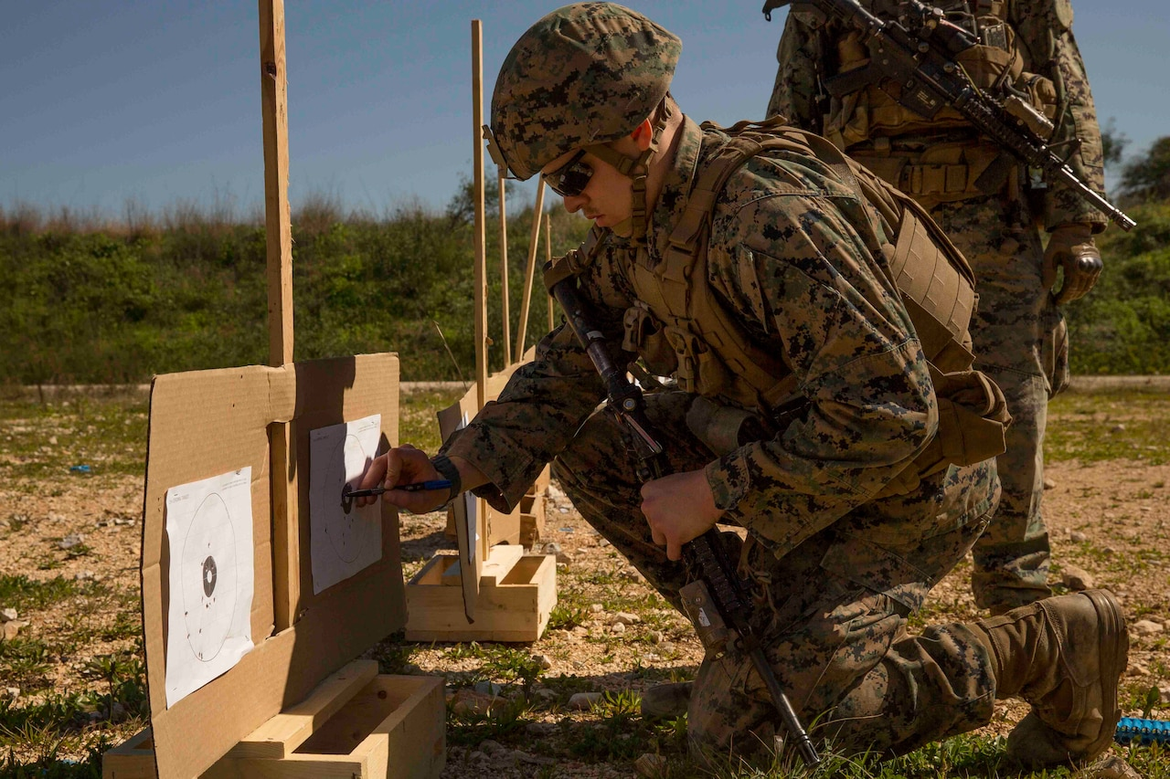 As part of the previous Juniper Cobra held in 2016, U.S. Marines with the Black Sea Rotational Force confirm their zeroes during the exercise in Israel.