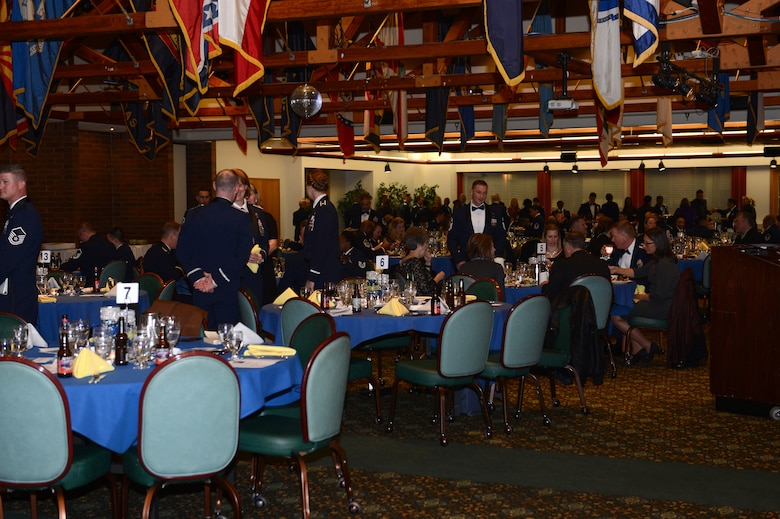 Members of Team McChord attend the 2017 Annual Awards Banquet at the McChord Field Club on Joint Base Lewis-McChord, Wash., Feb. 23, 2018. The event publicly recognized members of Team McChord for their excellence throughout the year.