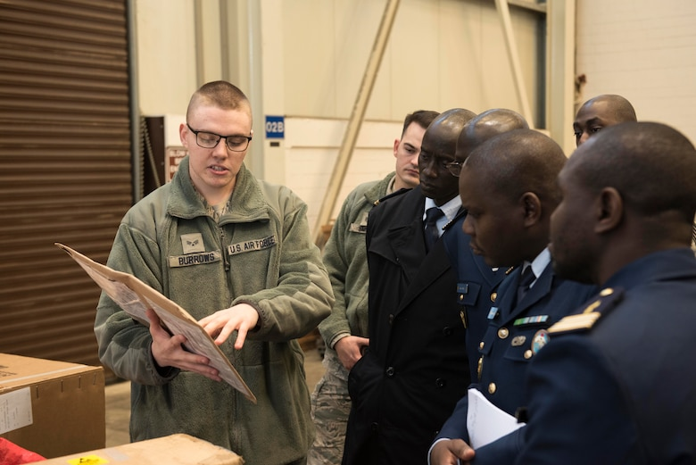 Senegalese Air Force senior leadership visits Spangdahlem, Ramstein