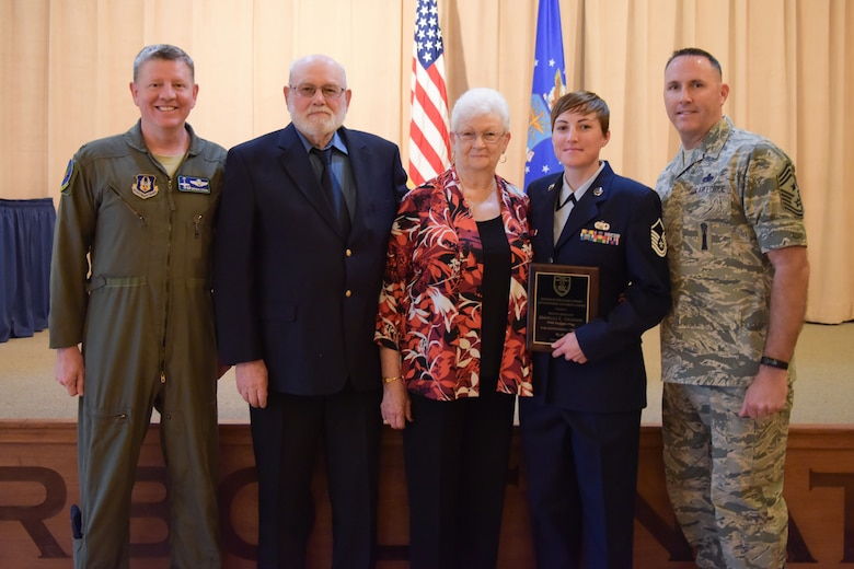 Master Sergeant Danielle Graziani, 944th Maintenance Squadron low observable section chief, was this year's Graydon William's Award winner.