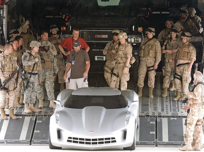 """Transformers"" (2007) filmed scenes at Edwards Air Force Base, California, Feb. 28."