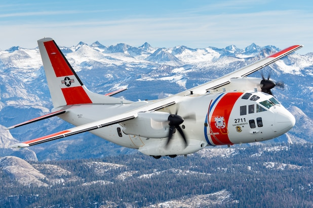 Image of a Coast Guard C-27J aircraft