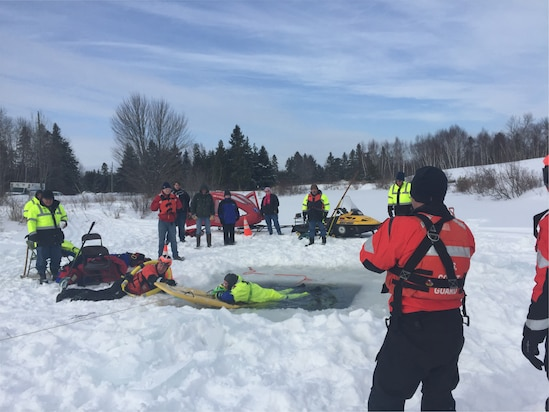 Image of Coast Guard ice rescue training
