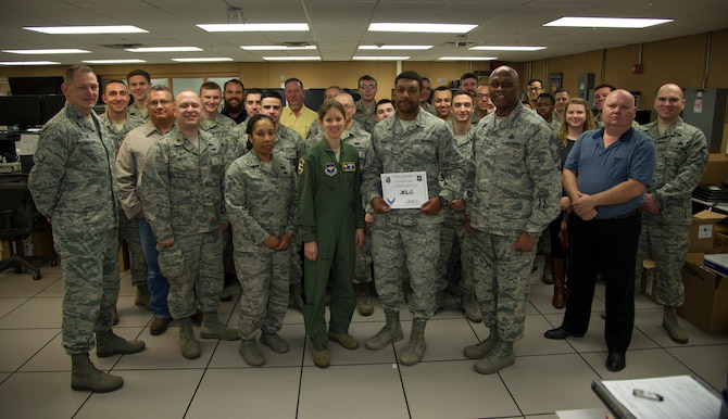 "Senior Airman Cameron Tippins, 47th Communications Squadron cyber systems operations journeyman, was chosen by wing leadership to be the ""XLer"" of the week, for the week of Feb. 19, 2018, at Laughlin Air Force Base, Texas. The ""XLer"" award, presented by Col. Michelle Pryor, 47th Flying Training Wing vice commander, is given to those who consistently make outstanding contributions to their unit and the Laughlin mission."