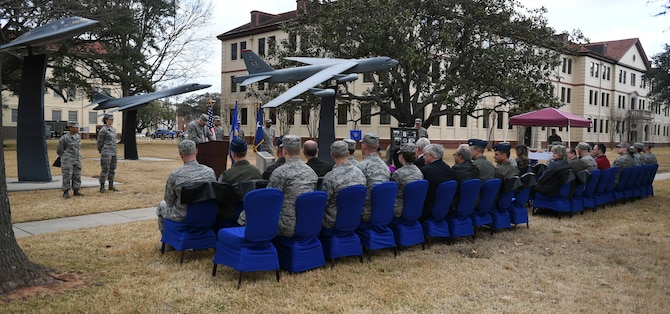 Barksdale members gathers for dedication ceremony