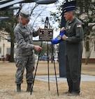8th AF leadership unveils Sgt Smith dedication plaque