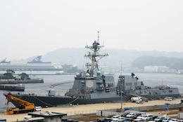 USS Dewey Arrives in Sasebo