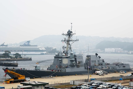 USS Dewey Arrives in Sasebo