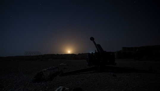 An illumination round lights up the night sky after a successful fire mission from the Afghan National Army artillerymen with 1st Brigade, 215th Corps during operation Maiwand 10 in Helmand Province, Afghanistan, Dec. 27, 2017. The artillerymen with 1st Brigade fired an illumination round near a bed-down site to raise the morale of the Afghan National Army Soldiers, showcasing that they can provide artillery support at any time during the operation. (U.S. Marine Corps photo by Sgt. Justin T. Updegraff)