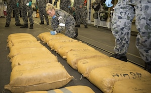 Combined Maritime Forces' (CMF) Combined Task Force (CTF) 150, seized 7.8 tons of narcotics
