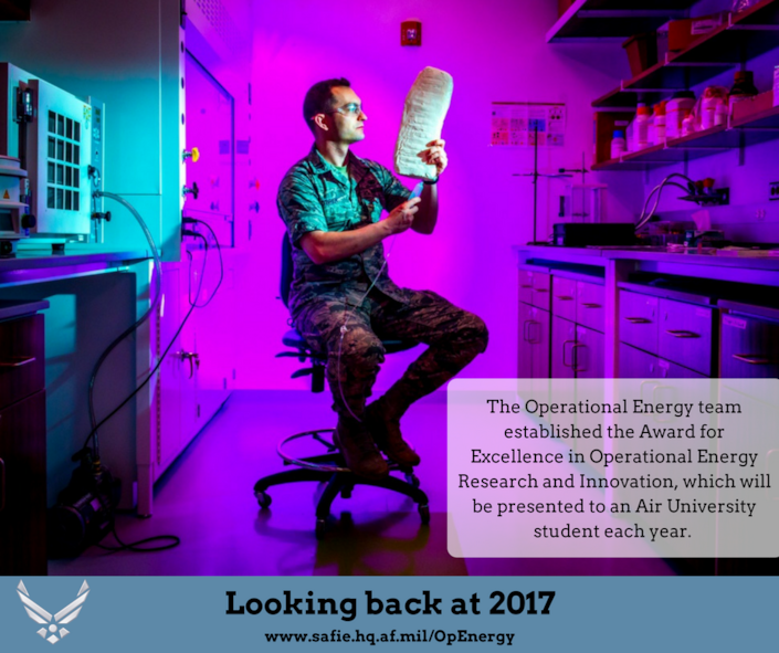 Looking back at Air Force Operational Energy's accomplishments in 2017.