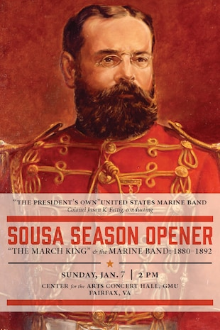 John Philip Sousa first served in the Marine Band as an apprentice musician from ages 13-20. Following his enlistment, he worked as a conductor and composer in Philadelphia until 1880, when at the age of only 25 he was called back by the Commandant of the Marine Corps to serve as the United States