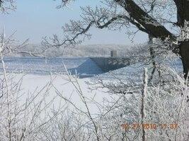 Red Rock Dam in winter