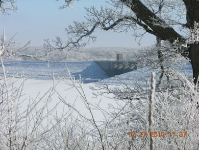 Red Rock Dam in winter