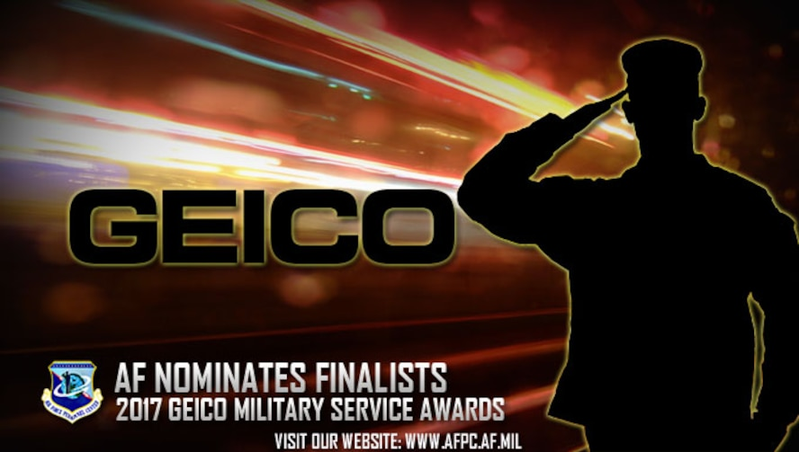 Air Force nominees selected for 2017 GEICO Military Service Awards