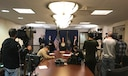 Indictment charges against three Chinese hackers are announced during a news conference Nov. 27, 2017, in the  Western District of Pennsylvania.