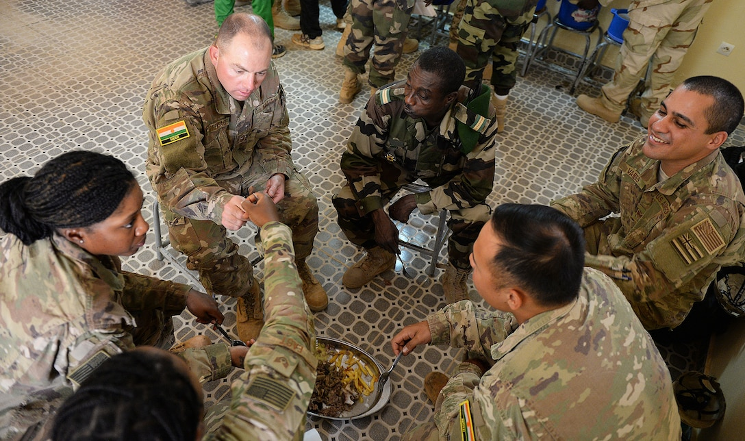 Joint luncheon at Nigerien Air Base 201, Niger