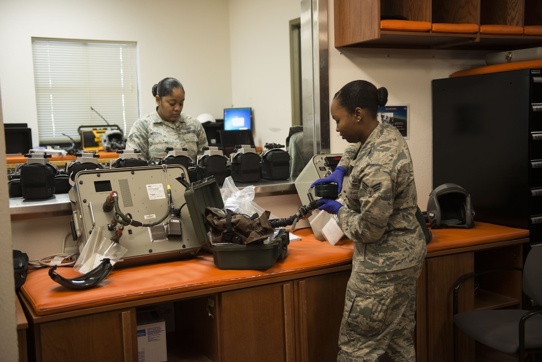 AFE Airmen are responsible for ensuring the aircrews gear is in top-notch condition before takeoff.