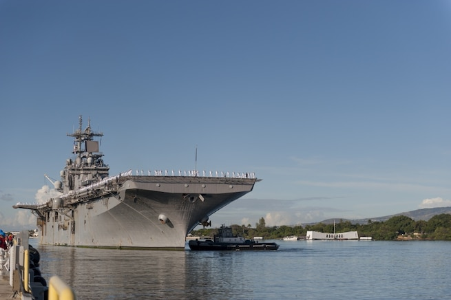 USS Wasp (LHD 1) Arrives in Pearl Harbor for Port Visit