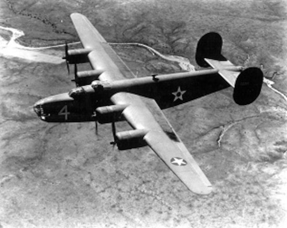 B-24 flies over Kirtland Air Force Base