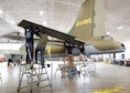 DAYTON, Ohio (01/04/2018) -- National Museum of the U.S. Air Force restoration crews installing the final control surfaces on the Boeing B-17F Memphis Belle™. Plans call for the aircraft to be placed on permanent public display in the WWII Gallery here at the National Museum of the U.S. Air Force on May 17, 2018. (U.S. Air Force photo by Don Popp)