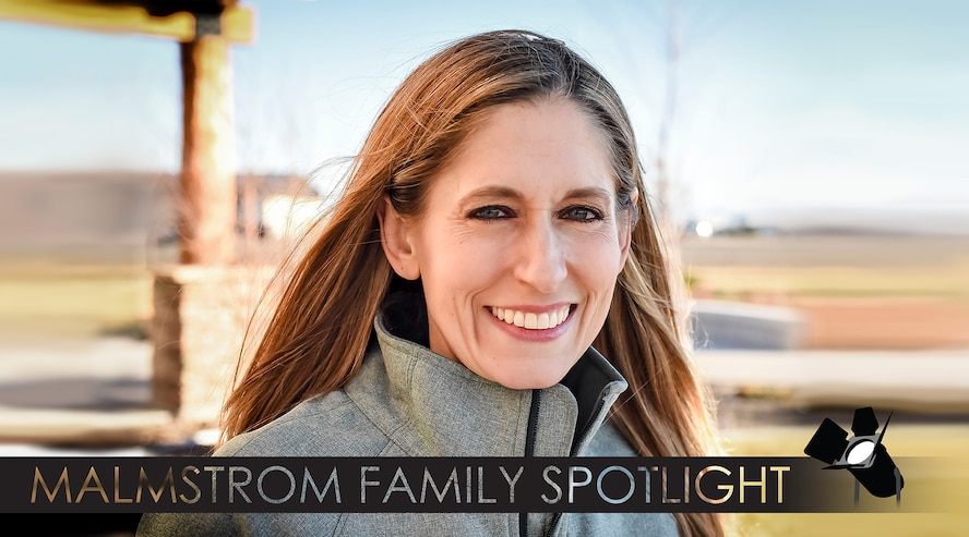 Bernadette Crosman smiles in a photo Dec. 19, 2017 at the Grizzly Bend, Malmstrom Air Force Base, Mont. She is featured for the Malmstrom family spotlight, which tells a brief story of the family members who are part of the 341st Missile Wing community. (U.S. Air Force photo by Kiersten McCutchan)