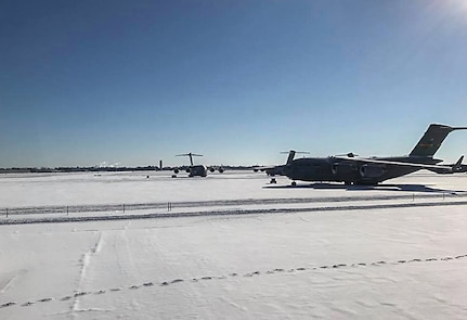 Winter Storm hits Joint Base Charleston