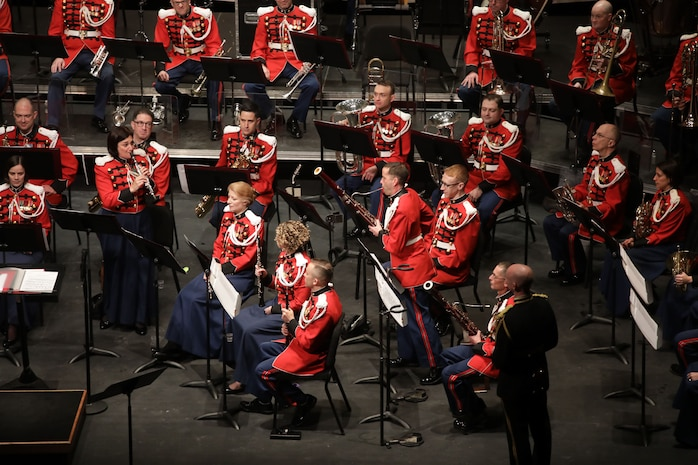 On Jan. 7, 2018, the Marine Band presented the annual Sousa Season Opener at George Mason Center for the Arts Concert Hall in Fairfax, Va