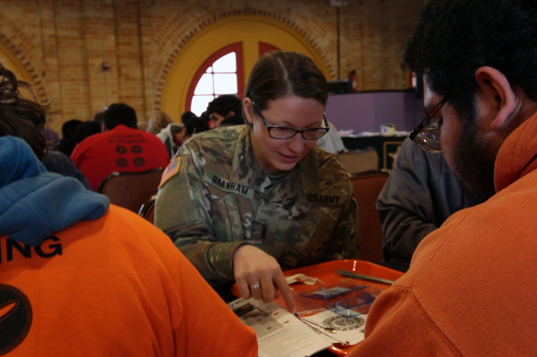Army showcases STEM for local high school students