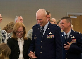 Col. Scovill Currin, 916th Air Refueling Wing Commander presided over the ceremony where Bateman assumed command of the 916th Mission Support Group. (U.S. Air Force Photo/Staff Sgt. Jeramy Moore)