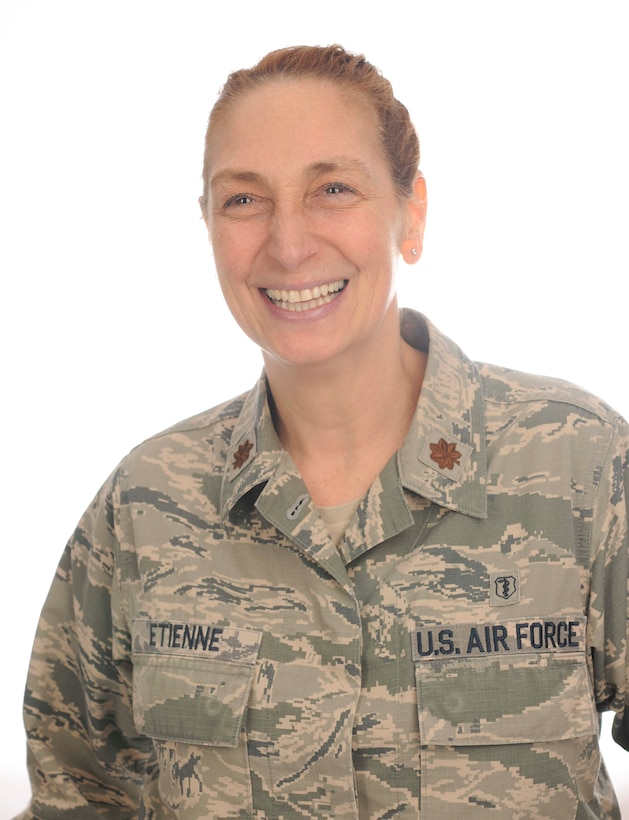 Maj. Neysa Etienne, 86th Medical Squadron flight commander and primary Survival, Evasion, Resistance, and Escape psychologist for U.S. Air Forces Europe and United States European Command, poses for a photo on Ramstein Air Base, Germany, Jan. 5, 2018. Etienne recently received the Department of Defense-wide Allied Health Leadership Excellence Award for senior clinician of the year, based on her work repatriating isolation victims. (U.S. Air Force photo by Senior Airman Elizabeth Baker)