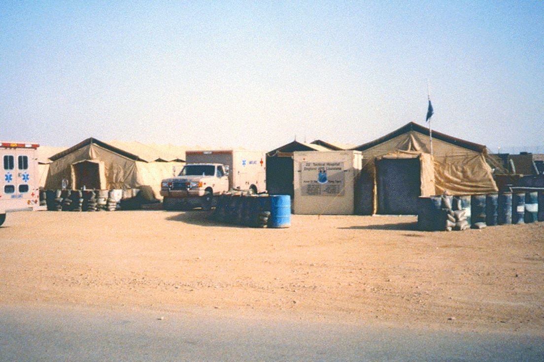 23d Tactical Hospital out of England AFB, Louisiana during Operation Desert Storm.