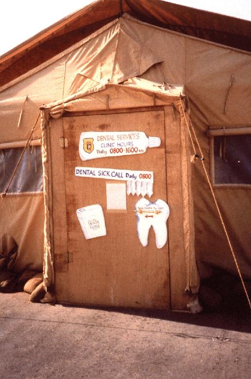 Dental clinic during Operation Desert Storm.