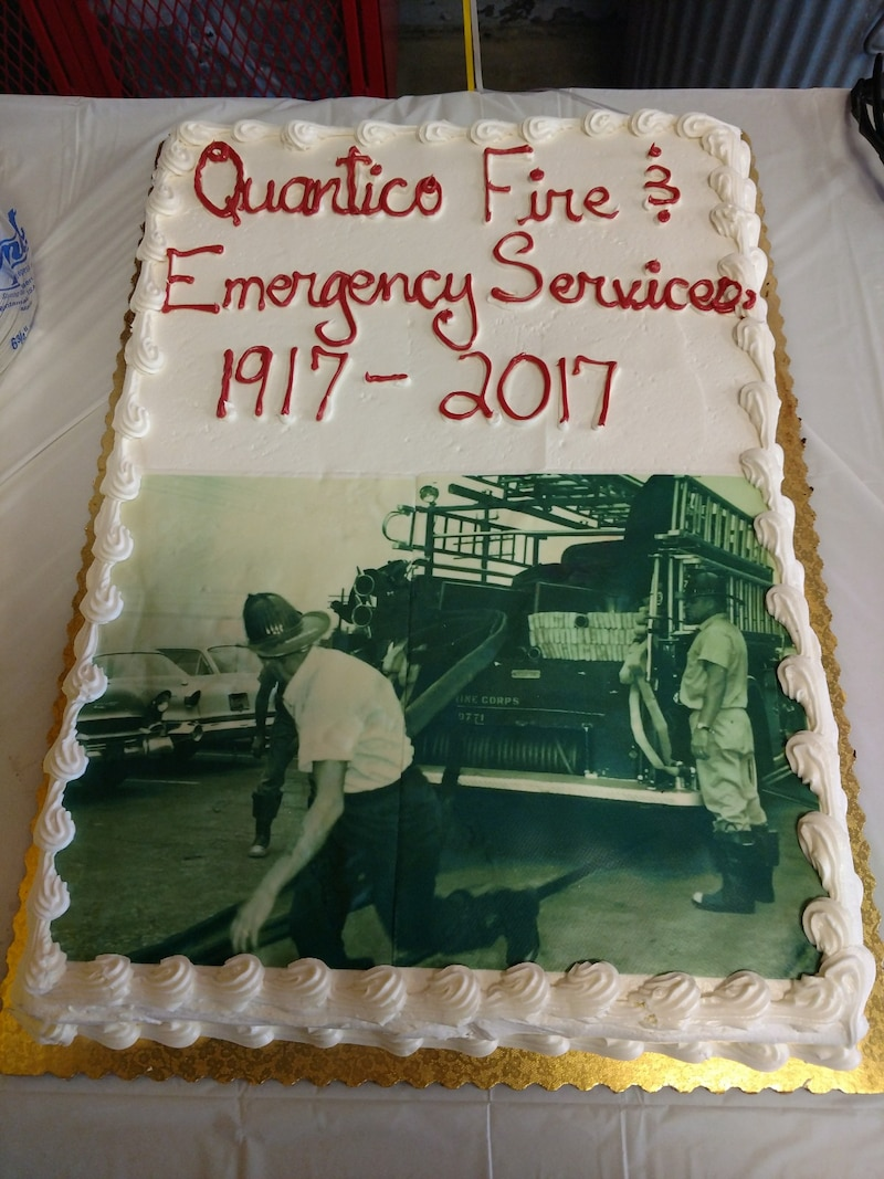 Quantico Fire Department Celebrating there 100 years of support to Marine Corps Base Quantico. September 8, 2017.